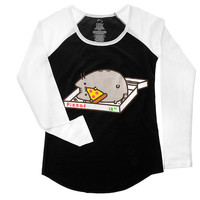 Pusheen Pizza Box Baseball - T
