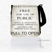 "Doctor Who BBC ""Pull To Open"" *BIG* Messenger Bag Purse"