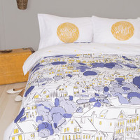 ModCloth Dorm Decor Snoozin' in the City Duvet Cover in Full, Queen