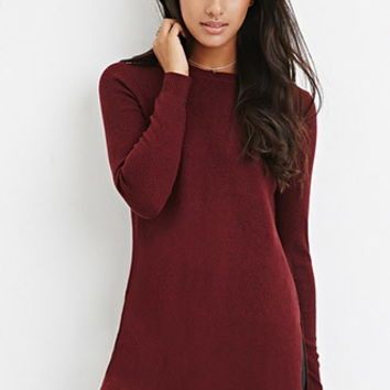 Side-Slit Sweater Tunic