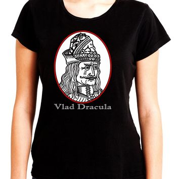Vlad Dracula The Impaler Women's Babydoll Shirt Top Vampire