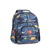 Mackenzie Blue Multicolor Dino Backpack