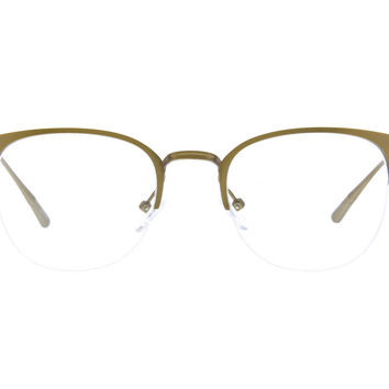 Gold Browline Eyeglasses #327314 | Zenni Optical Eyeglasses
