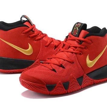 Nike Kyrie Irving 4 IV Red/Blk/Gold Sneaker