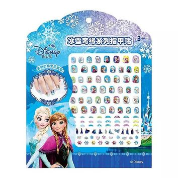 1pcs/bag Nails Stickers Frozen Sophia Mickey Mouse Cartoon Princess Stickers for nails Water Transfer Sticker Decal for Nail
