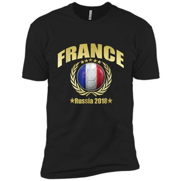 France Champions 2018 Soccer Team Premium Cup Gold T-Shirt Next Level Premium Short Sleeve Tee