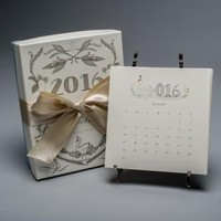 DESK CALENDARS, 2016 KAREN ADAMS CALENDAR WITH GOLD EASEL