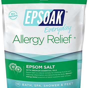 Epsoak Epsom Salt | 2 lbs. Allergy Relief Bath Salts - For Bath, Spa, Shower & Feet (Everyday Epsom Salts)