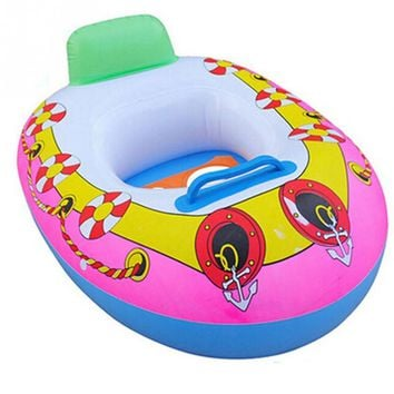 2018 Summer Baby Kids Cartoon Safety Swimming Ring Inflatable Swim Float Water Fun Pool Toys Swim Ring Seat Boat Water Sport