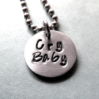 Cry Baby - Lyric - Pendant Necklace Keychain - Melanie Martinez Tribute