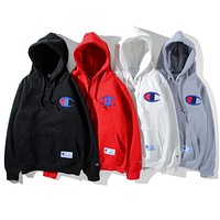 Champion Fashion Classic Embroidery Logo Hooded Sport Top Sweater Sweatshirt Hoodie