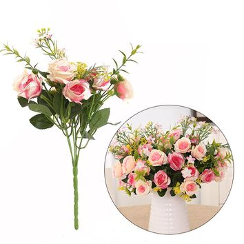 artificial flowers for home decoration wedding table flowers Peony DIY artificial silk flower accessories arrangements flores