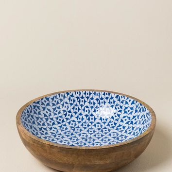 Bungalow Wood Enamel Bowl Set
