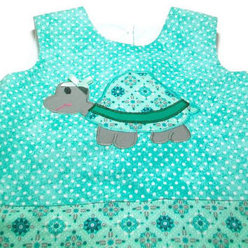 Toddler Girl Outfit, 18 Month Girl, Girls Turtle Outfit, Girls Bubble Romper, Girls Romper, Turtle Romper, Girls Fashion, Girls One Piece