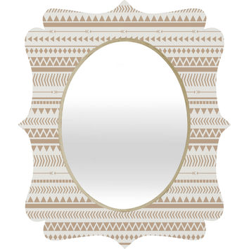 Allyson Johnson Tan Aztec Quatrefoil Mirror