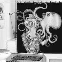 Deep Sea Discovery Octopus shower curtain