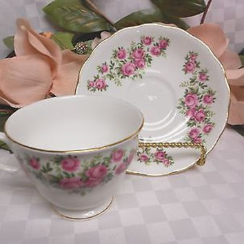 Royal Vale, Bone China, Dinnerware Pink rose Floral Cup and saucer set