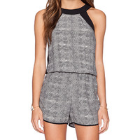 krisa Panel Romper in Black & White