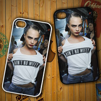 Aint No Wifey Cara Delevingne X0087 LG G2 G3, Nexus 4 5, Xperia Z2, iPhone 4S 5S 5C 6 6 Plus, iPod 4 5 Case