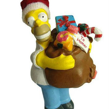 Christmas Ornament - Homer Simpson With Gift Bag