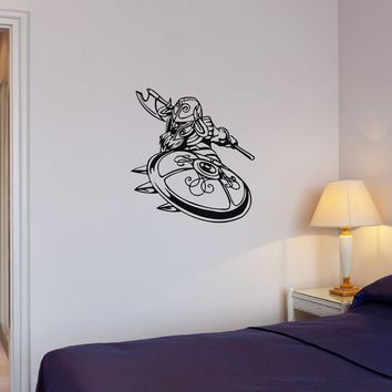 Wall Decal Knight Warrior Viking Barbarian Middle Ages Vinyl Sticker (ed1192)