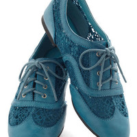 Carnival Confection Flat in Blue | Mod Retro Vintage Flats | ModCloth.com
