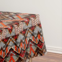 African Style Abstract Design Tablecloth