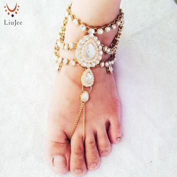 Barefoot Sandals Foot Jewelry Gold Color Wedding Jewelry Wedding Sandals Anklet Foot T