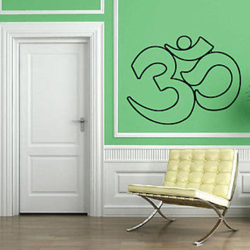 Yoga Symbol Om Sanskrit Spiritual Mind Decor Wall MURAL Vinyl Art Sticker M584