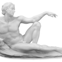 Adam from Creation of Man Statue by Michelangelo 8.75L