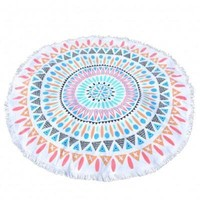 Unforgettable Tasseled Edge Beach Blanket Towel