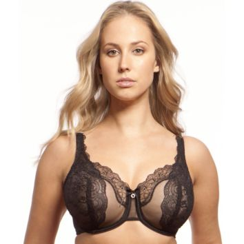 Sheer Lace Full Figure Bra Lunaire Ashley