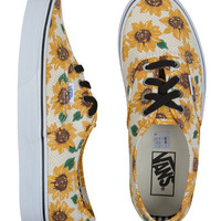Vans Authentic Sunflower True White Womens Shoes