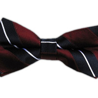 Nifty Stripe - Burgundy/Navy (Bow Ties) from TheTieBar.com - Wear Your Good Tie Everyday