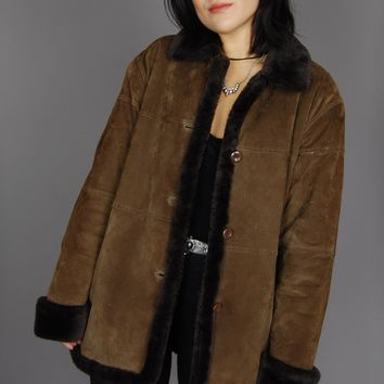 Keep On Walking Faux Fur Suede Leather Jacket