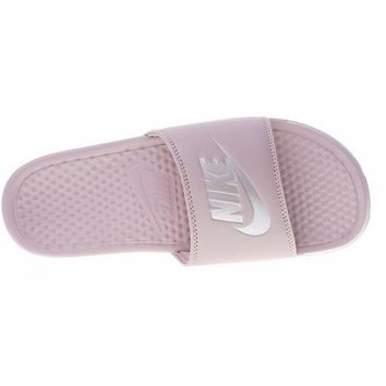 "Nike Benassi Just Do It Beach Slipper Sandals ""Pink"" 343881-614"