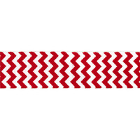 "Grosgrain Ribbon, 7/8"" Chevron Grosgrain Ribbon--Red, sold by the yard, craft supply"