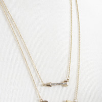 2x the love arrow necklace