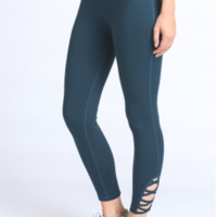 Blue Criss Cross Leggings