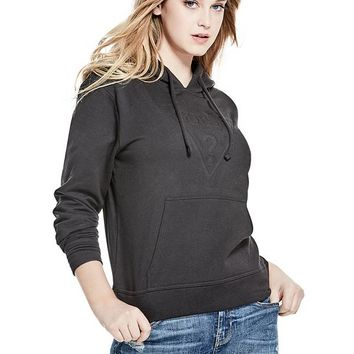 Embossed Logo Hoodie at Guess