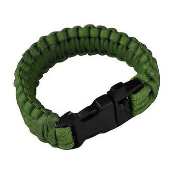 Outdoor Travel Camping Thin Blue Line Black Braided Cobra Weave Plastic Buckle Paracord Survival Bracelet