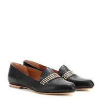 chloé - embellished leather loafers