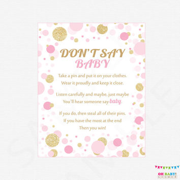 photograph regarding Free Don't Say Baby Printable called Ideal Youngster Shower Sayings Merchandise upon Wanelo
