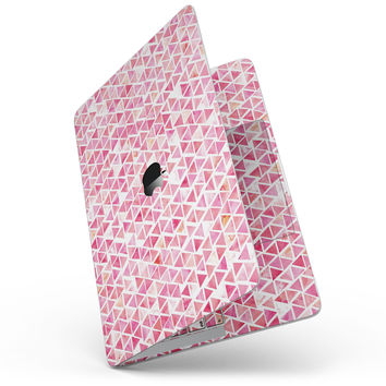 Pink Watercolor Triangle Pattern - MacBook Pro without Touch Bar Skin Kit