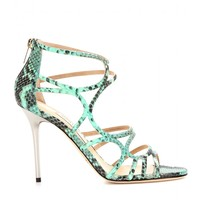 jimmy choo - sazerac embossed leather sandals