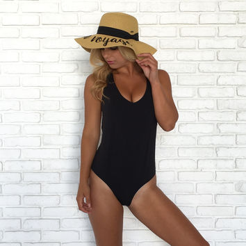 Molly Braid One Piece Swimsuit in Black