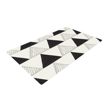 "Laurie Baars ""Textured Triangles"" Geometric Abstract Woven Area Rug"