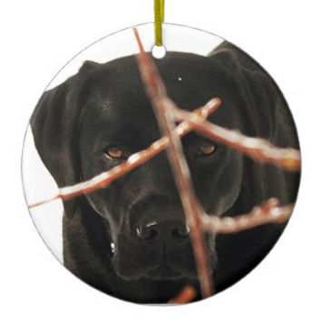 Black Lab Ornament - Black Lab Christmas - Black Lab Art 96 - Black Labrador Ornament - Lab Dog - Labrador Retriever - Black Lab Decor