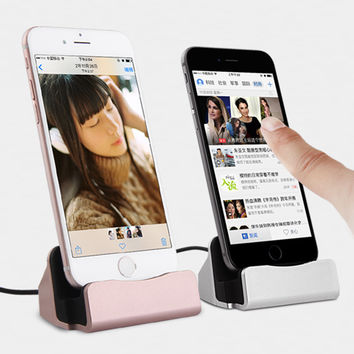 Charger Dock Stand Station For Apple iPhone 7 Plus 5S  6 6S  Android/IOS  Charging Dock   Charging Sync Docking