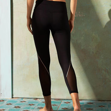 Aerie Move 7/8 Mesh Legging, True Black